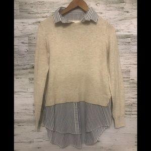 H&M Conscious crewneck with mock tunic blouse